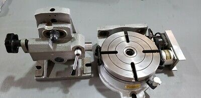 Cnc 4th Axis Rotary Table Horizontal Vertical 8 Inch With Tailstock