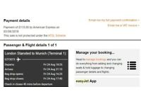 London to Munich (One Way) EasyJet Flight: 24th August, 6:25PM
