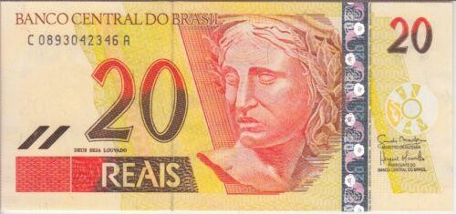BRAZIL BANKNOTE P250e  20 REAIS PREFIX C, UNC