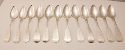 Set of 12 Coin Silver teaspoons