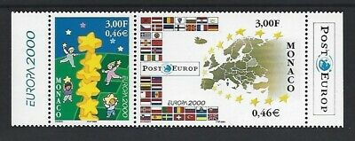 MONACO   EUROPA   CEPT  2000   SC=2161-62a    MNH