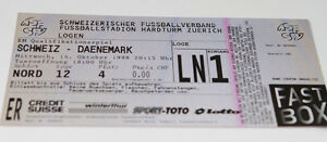 Ticket for collectors EURO q * Switzerland - Denmark 1998 in Zurich - <span itemprop=availableAtOrFrom>Internet, Polska</span> - Ticket for collectors EURO q * Switzerland - Denmark 1998 in Zurich - Internet, Polska