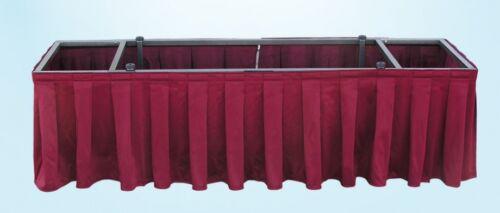 Pro D400 Casket Drape Skirting NAVY Mortuary Funeral Display Church Visitation