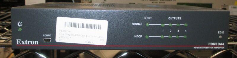 EXTRONHDMI DA4 Four Output HDMI Distribution Amplifier - Unit Only
