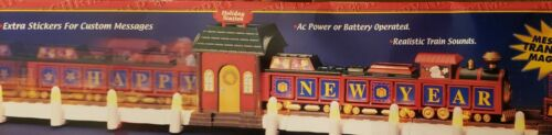 Christmas Message Train Realistic Train Sounds AC or Battery Operated 100 BR