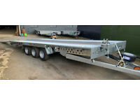 NEW WOODFORD FBT 231 18' X 8' Tilt Bed Trailer with Extras - BARGAIN