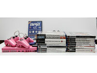 Details about Limited edition pink PS2 + a collection of 14 games. Comes with 2 pink controll