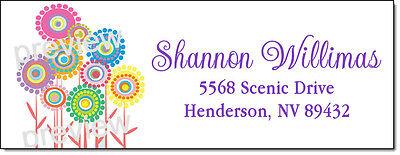 FLOWER POWER PATCH 161 LASER RETURN ADDRESS LABELS - $1.85