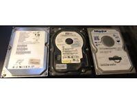 """3 x 3.5"""" SATA Hard Disk Drives"""
