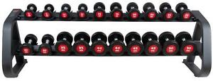NEW eSPORT URETHANE PROFESSIONAL CLUB DUMBELL SETS 10 Pairs 5lb-50lb + Rack