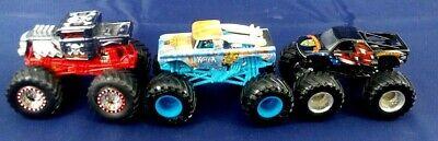 Loose Hot Wheels Monster Jam Truck Lot Of 3 Big Kahuna, Air Bourne, Bone Shaker