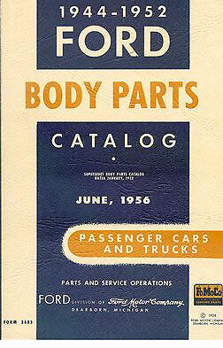 Ford Parts Manual Book Car Truck Body Catalog 1944 1952 V8 Pickup 1951 1950 1949