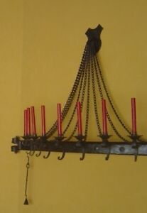 Solid Wrought Iron Candleabra