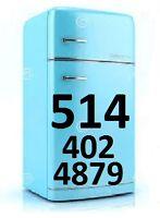 Réparateur Électroménagers Réfrigérateur-Sécheuse 514-402-4879