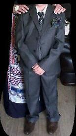 Boys jacket trousers shirt waistcoat and shoes