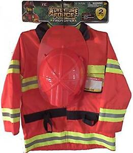 NEW: Fire Chief Costume Play Set Size 3-6X, Hat & Jacket