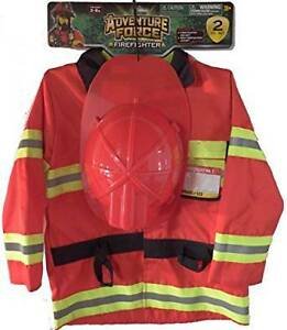 NEW: Firefighter Costume Play Set Size 3-6X, Hat & Jacket -