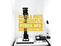 Black and White Darkroom Workshops in Ipswich