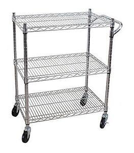 $25 for 3-shelf Steel Heavy-Duty All-Purpose Utility Cart