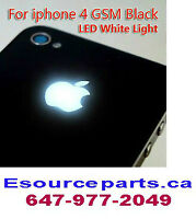 IPHONE 4 / 4S LED GLOWING LOGO BACK COVER. LIGHT UP APPLE LOGO