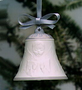 LLADRÓ 1999 Porcelain Christmas Bell --- NEW IN BOX, $80 OBO!!
