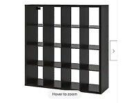 IKEA expedit kallax black/brown shelf storage unit 4x4