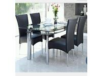 Black glass double layered table from Harveys