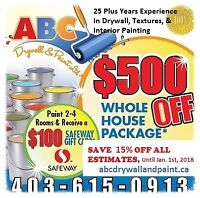 Interior Painting, Renovations, New Construction, Re-Paints