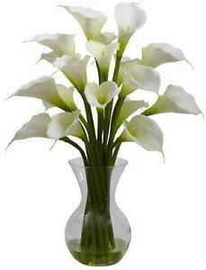 silk white calla lilies - Calla Lily Flower