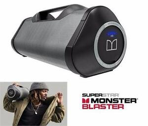 NEW MONSTER BLASTER SPLASHPROOF WIRELESS BLUETOOTH SPEAKER