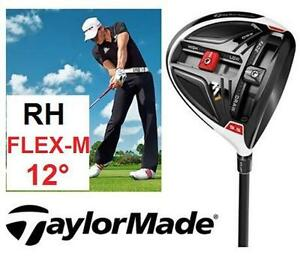 NEW TAYLORMADE MEN'S GOLF DRIVER RIGHT HAND  GRAPHITE SENIOR FLEX - 12 DEGREE - SPORTS CLUB OUTDOOR 100278158