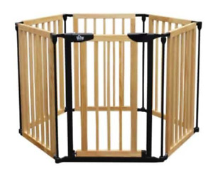 """BILY Wooden Play Yard """"Superyard"""" -- With Extension Panels"""