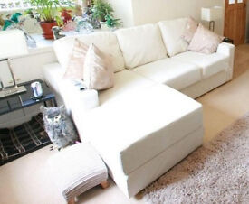 3-Seater Sofa and Large Footstool (flat-pack - self assembly)