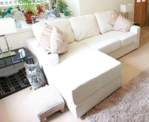 3 Seater Sofa And Large Footstool Flat Pack