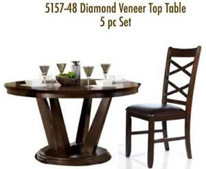 5PC Round Dining Set With Table 4 Chairs Regular Retail