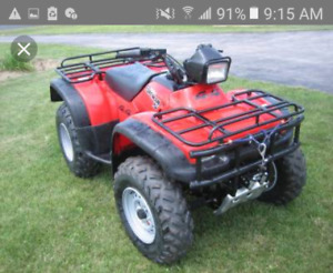 4x4 atv with papers