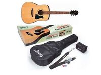 Dreadnought acoustic guitar IBANEZ left-handed - brand new