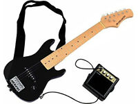 Delson STAR SINGER Electric Guitar for Children - Black- Half Size + Amp