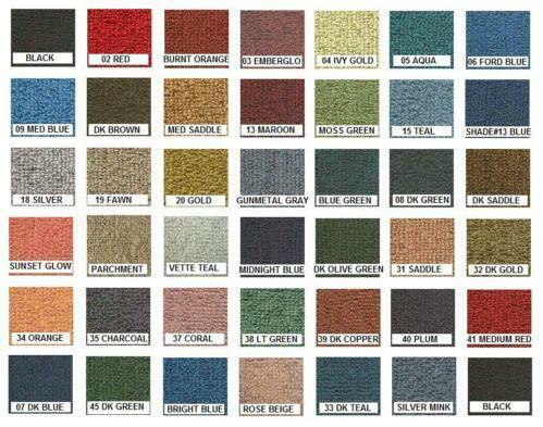 Grey Car Paint Chart >> Automotive Carpet | eBay