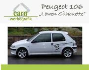 Peugeot Aufkleber Löwe