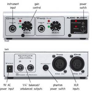 M-Audio AudioBuddy Dual Mic Preamp Direct Box Annandale Leichhardt Area Preview