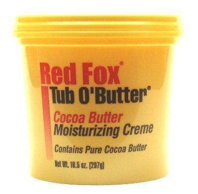 NEW Red Fox Tub OButter Cocoa Butter 10.5 oz. 3 Pack with Free Nail File