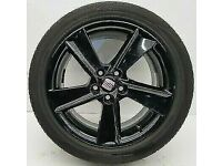 MINT SET OF SEAT IBIZA 16 '' ALLOYS NEW TYRES, FREE FITTING AND BALANCE OPEN 7 DAYS