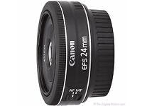 Canon EF-S 24mm f/2.8 STM Lens *RRP £130*