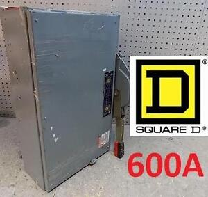 NEW* SQUARE D 600V FUSIBLE SWITCH SWITCH FUSIBLE QMB 600V 600A 3P 107694799