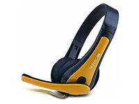 Canyon cns-chsc1by Headset – Black, Yellow (PC/Games Headphones, Wired Headband, Black, Yellow, 2 M)