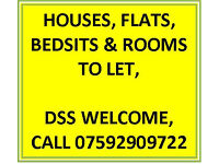 BEDSIT TO LET DSS WELCOME OVER 35S ONLY