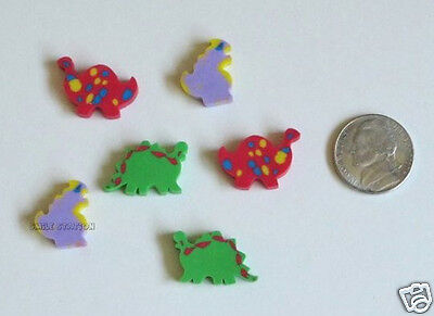 36 Dinosaur Dino Mini Erasers Kid Party Goody Loot Gift Bag Favor Pinata Filler