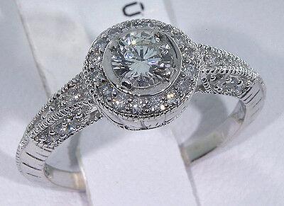 .50 Carat Womens Diamond Engagement Ring 14k White Gold