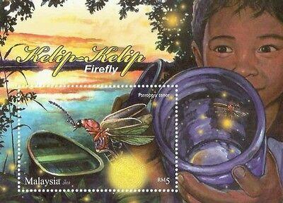Firefly Malaysia 2010, Insect (miniature) MNH *unusual Glitter - Firefly Insect